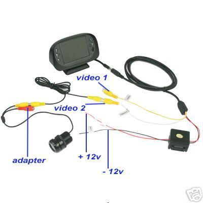 схема подключения автомобильной камеры.